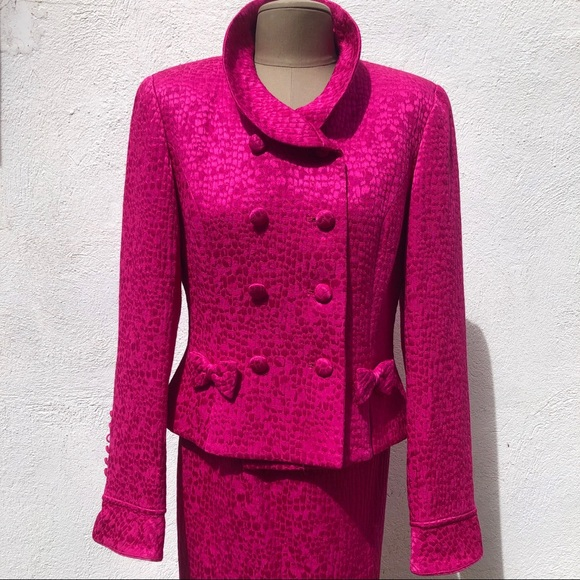 Rickie Freeman for Teri Jon Dresses & Skirts - Vintage Magenta Skirt Suit